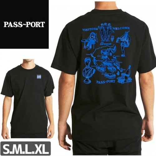 【PASS~PORT パスポート スケボー Tシャツ】INTERNATIONAL TEA TOWELS GREECE TEE NO2