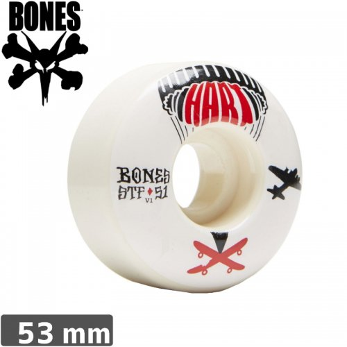 【ボーンズ BONES スケボーウィール】HART DROP WHEELS STF【V1】【53mm】NO153