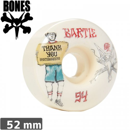 【ボーンズ BONES スケボーウィール】BARTIE THANK YOU WHEELS STF 【V1】【52mm】NO154
