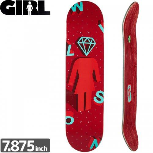 【ガール GIRL スケボーデッキ】WILSON 3 DIAMOND DECK[7.875インチ]NO209