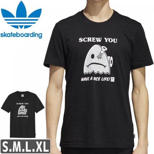 【アディダス Tシャツ ADIDAS SKATEBOARDING 】SCREWED TEE【ブラック】NO39