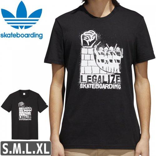 【アディダス Tシャツ ADIDAS SKATEBOARDING 】LEGALIZE TEE【ブラック】NO40