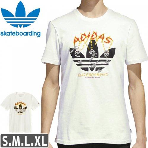 【アディダス Tシャツ ADIDAS SKATEBOARDING 】SHOCK TEE【ホワイト】NO41