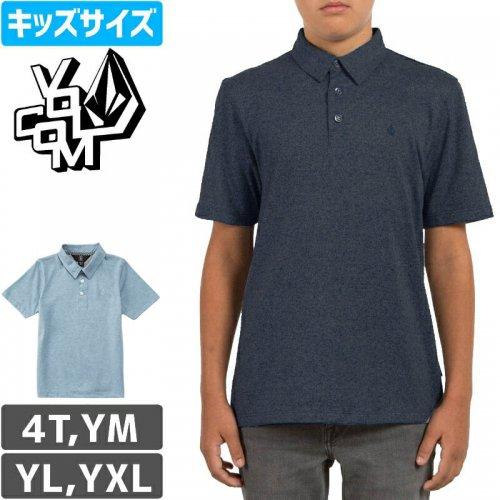 【VOLCOM ボルコム キッズ Yシャツ】WOWZER POLO YOUTH SHORT【インディゴ】NO23