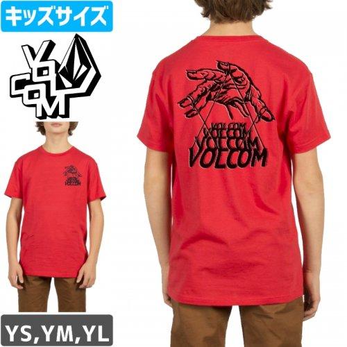 【VOLCOM ボルコム キッズ Tシャツ】PUPPET YOUTH TEE【レッド】NO74