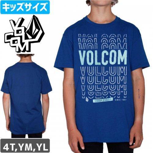 【VOLCOM ボルコム キッズ Tシャツ】COPY CUT S/S YOUTH TEE【ブルー】NO75