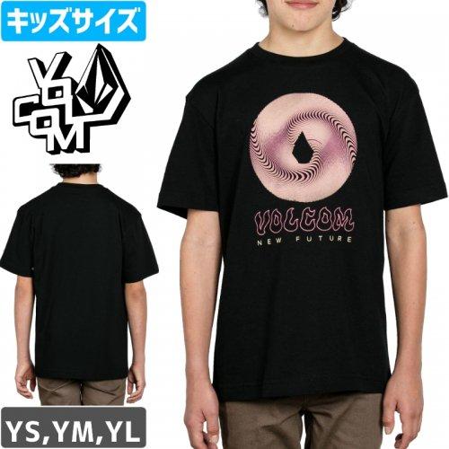 【VOLCOM ボルコム キッズ Tシャツ】SOLAR EYES S/S YOUTH TEE【ブラック】NO76