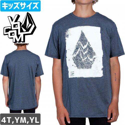 【VOLCOM ボルコム キッズ Tシャツ】DISRUPTION S/S YOUTH TEE【ヘザーインディゴ】NO78