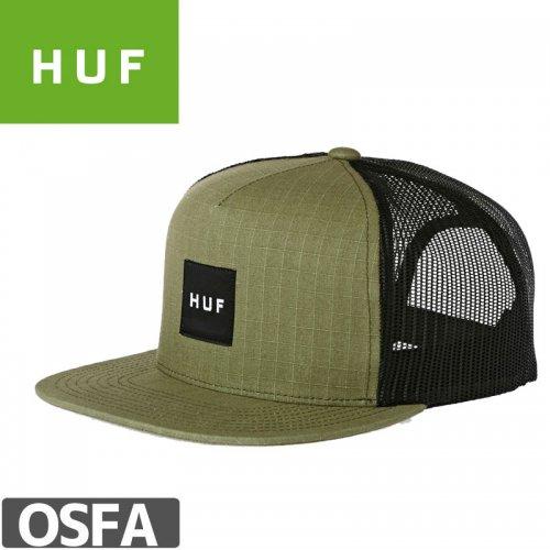 1週間限定セール!【HUF ハフ スケートボード キャップ】BOX LOGO TRUCKER CAP OIVE NO70