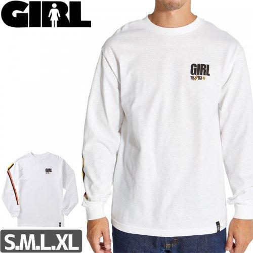 【GIRL ガールスケートボード ロング Tシャツ】INDUSTRY L/S TEE【ホワイト】NO9