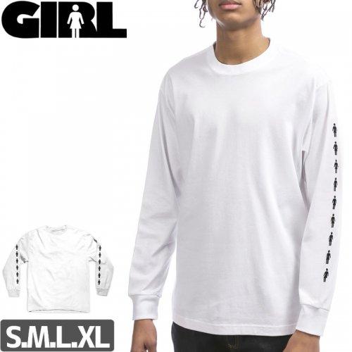 【GIRL ガールスケートボード ロング Tシャツ】RUNWAY L/S TEE【ホワイト】NO10