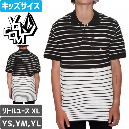 【VOLCOM ボルコム キッズ ポロシャツ】WOWZER STRIPE POLO YOUTH NO25