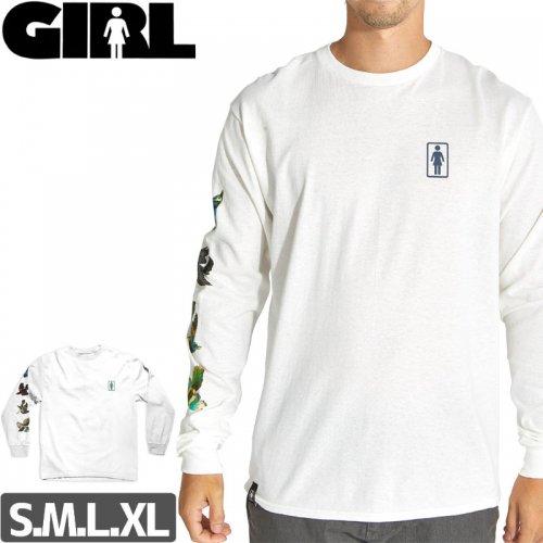 【GIRL ガールスケートボード ロング Tシャツ】SANCTUARY L/S TEE【ホワイト】NO11