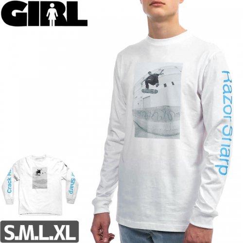 【GIRLSKATEBOARD ガールスケートボード ロング Tシャツ】CRACK RAIDER L/S TEE【ホワイト】NO13