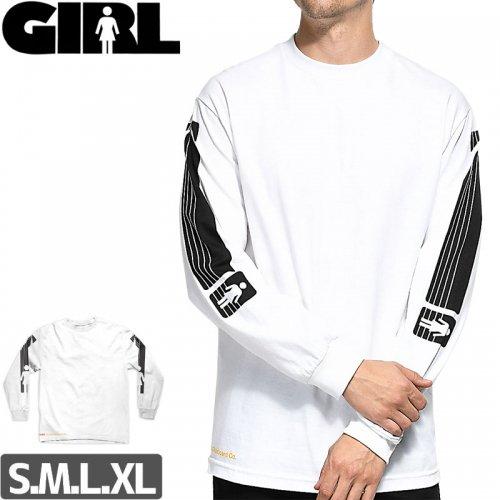 【GIRL ガールスケートボード ロング Tシャツ】GIRL x KODAK HERITAGE L/S TEE【ホワイト】NO14