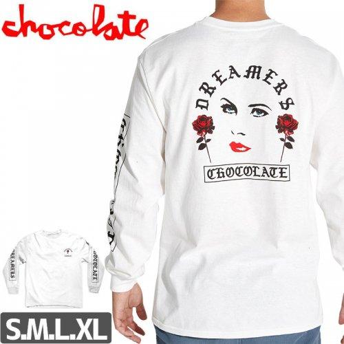 【チョコレート CHOCOLATE スケボー ロングTシャツ】DREAM ON L/S 長袖【ホワイト】NO10