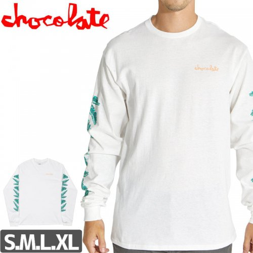 【チョコレート CHOCOLATE スケボー ロングTシャツ】TROPICAL L/S 長袖【ホワイト】NO11