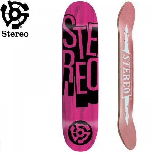 【STEREO ステレオ スケボー デッキ】STACKED DECK [7.625インチ] NO62