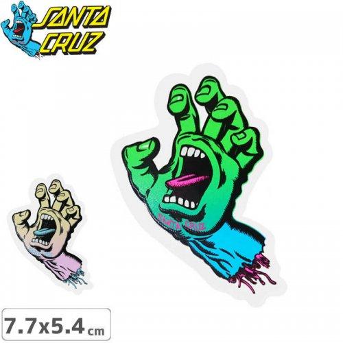 【サンタクルーズ SANTACRUZ スケボー ステッカー】SCREAMING HAND【7.7cm x 5.4cm】NO84