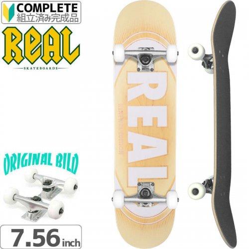 【リアル REAL スケートボード コンプリート】OVAL BURST FADE PP[7.56インチ]オリジナルビルド NO16