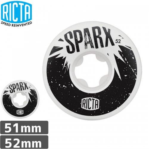 【リクタ RICTA スケボー ウィール】SPARX 101A WHEEL WHITE【51mm】【52mm】NO36