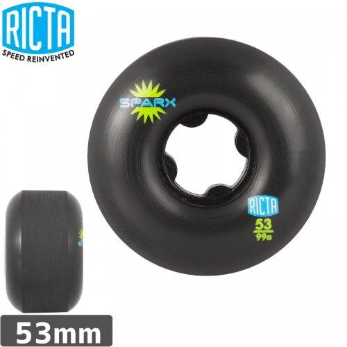 【リクタ RICTA スケボー ウィール】SPARX WHEEL BLACK【53mm】NO37