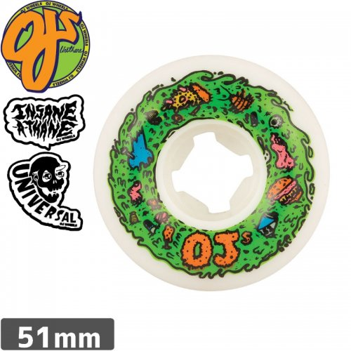 【オージェイ OJ3 スケボー ウィール】SCUM INSANEATHANE UNIVERSALS SHAPE 101A【51mm】NO39