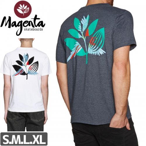 【MAGENTA マゼンタ Tシャツ】PARROT TEE【ヘザーグレー】【ホワイト】NO4