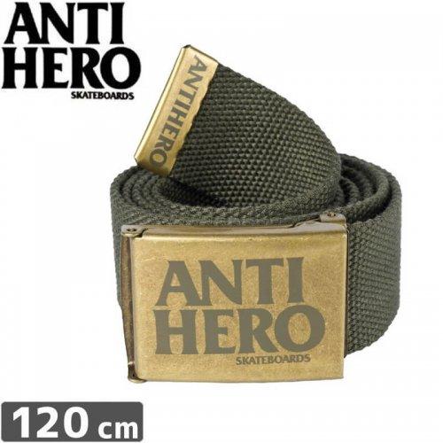 【ANTI HERO アンタイヒーロー スケボー BELT ベルト】BLACKHERO WEB BELT【アーミーグリーン】NO6