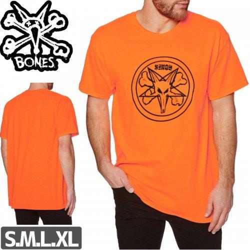 【ボーンズ BONES スケボー Tシャツ】PENTAGRAM T-SHIRTS【オレンジ】NO34