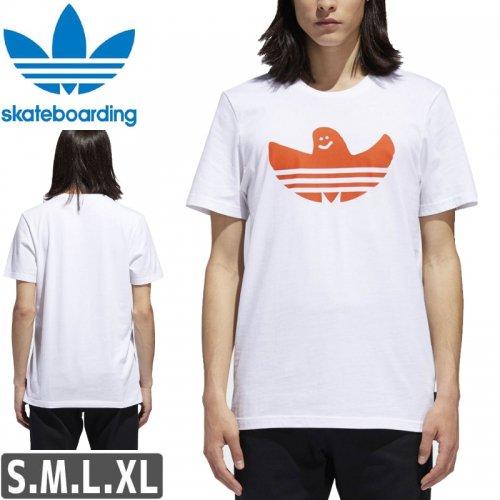 【アディダス Tシャツ ADIDAS SKATEBOARDING 】SOLID SHMOO TEE【オレンジxホワイト】NO46