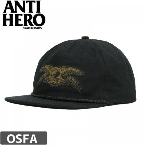 【アンチヒーロー ANTIHERO キャップ】STOCK EAGLE PATCH SNAPBACK HAT【ブラック】NO42