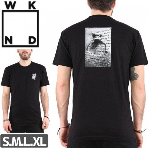 【ウィークエンド WKND スケボー Tシャツ】WAVY TEE【ブラック】NO10