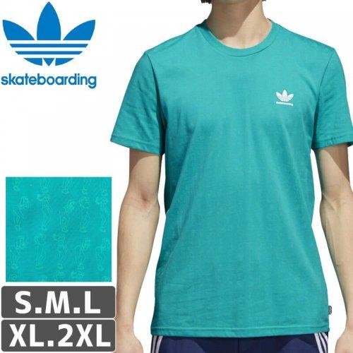 【アディダス Tシャツ ADIDAS SKATEBOARDING 】CLIMA 2.0 DANCER TEE【ショックグリーン】NO44