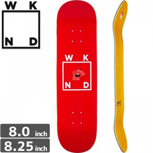 【ウィークエンド WKND スケボー デッキ】RED LIPS DECK[8.0インチ][8.25インチ]NO12
