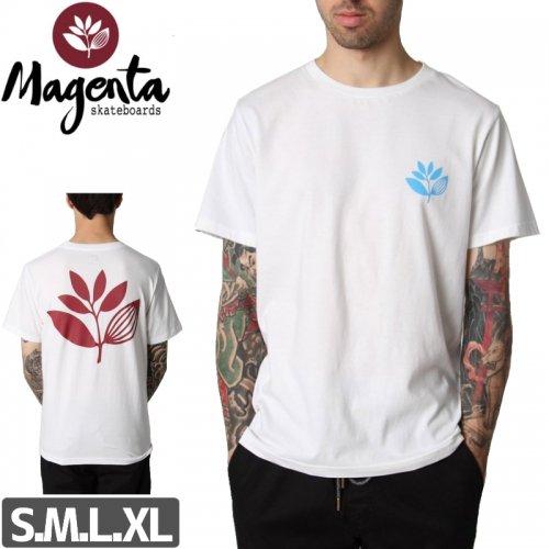 【MAGENTA マゼンタ Tシャツ】TRICOLOR PLANT TEE【ホワイト】NO6