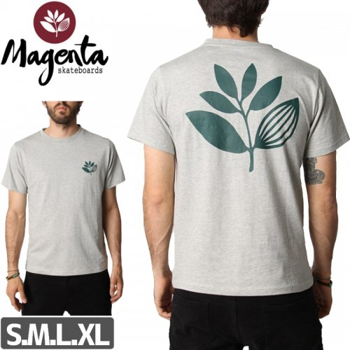 【MAGENTA マゼンタ Tシャツ】PLANT TEE【ヘザーグレー】NO7