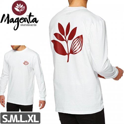 【MAGENTA マゼンタ スケボー ロング Tシャツ】CLASSIC LONG SLEEVE TEE【ホワイト】NO3