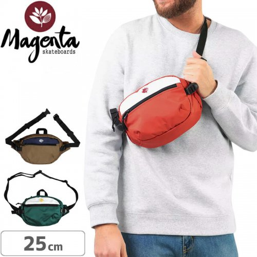 【マゼンタ MAGENTA スケボー バッグ】BANANA BAG【2トーンカラー】NO2