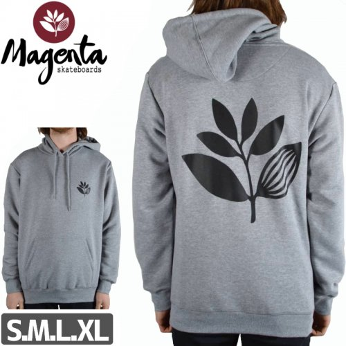 【MAGENTA マゼンタ スケボー パーカー】CLASSIC PLANT PULLOVER HOODIE【ヘザーグレー】NO3