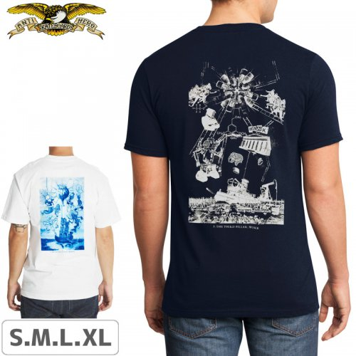 【アンタイヒーロー ANTIHERO スケボーTシャツ】4 PILLARS OF OBEDIENCE TEE【ホワイト】NO95
