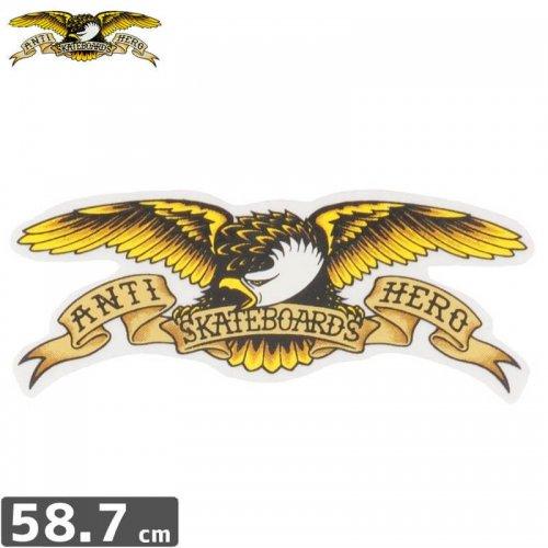 【アンタイヒーロー ANTIHERO スケボー ステッカー】EAGLE LARGE【58.7cm x 20cm】NO13