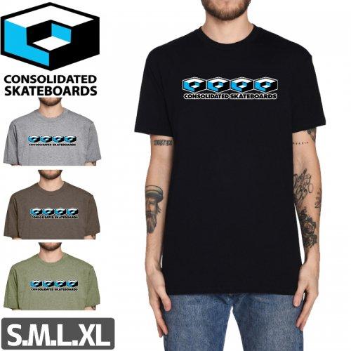 【コンソリデーテッド CONSOLIDATED スケボー Tシャツ】4 CUBES TEE【4カラー】NO7