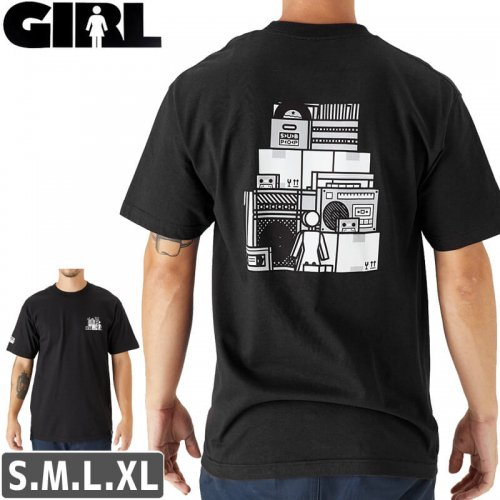 【ガール GIRL スケボー Tシャツ】GIRL SUBPOP T-SHIRT【ブラック】NO296