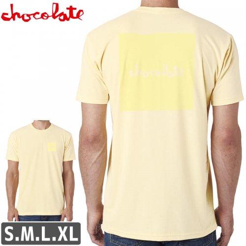 【チョコレート CHOCOLATE スケボー Tシャツ】TONAL SQUARE T-SHIRT【クリーム】NO176