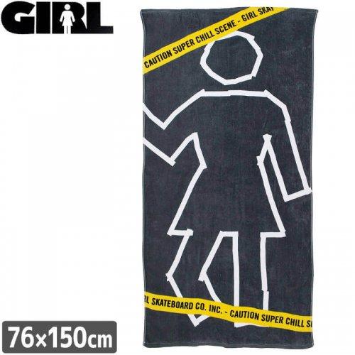 【GIRL ガールスケートボード ビーチタオル】BEACH TOWEL 76×150cm【グレー】NO1