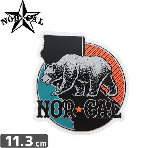 【ノーカル NOR CAL ステッカー】NORTH REGION【11.3m x 10.7cm】NO31