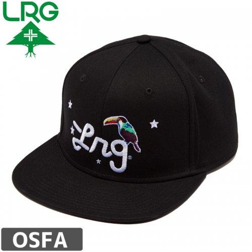 【LRG エルアールジー スケボー キャップ】LRG BIRDS OF A FEATHER HAT【ブラック】NO11