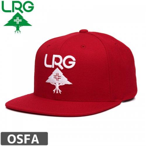 【LRG エルアールジー スケボー キャップ】THE RESEARCH GROUP SNAPBACK HATS【レッド×ホワイト】NO12