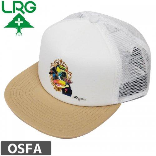 【LRG エルアールジー スケボー キャップ】SAY WHAT FOAM TRUCKER HAT【ベージュ×ホワイト】NO14